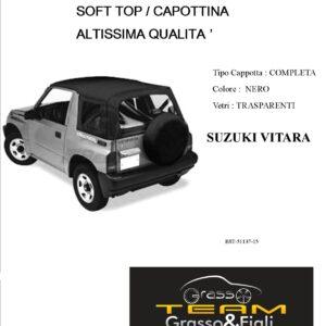 Cappottina 90° GradiSoft Top Nero Suzuki Vitara Altissima Qualità