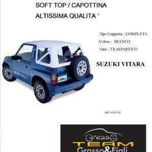 Cappottina Soft Top Bianco Suzuki Vitara Altissima Qualità