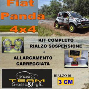 Kit COMPLETO Rialzo Molle + 4 Distanziali Ruota 2cm For Fiat Panda 4×4 2012 -> AU27 + AU27 + XA6 + xb4