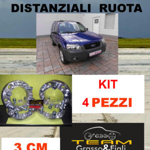 kit 4 Distanziali Ruota For Ford Maverick Ranger AW2 2003 -> 30 mm spessore Wheel Spacers DF3