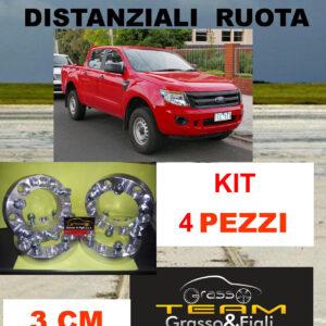 kit 4 Distanziali Ruota For FORD RANGER 2011 -> 2015 30 mm 3 cm spessore Wheel Spacers DF3