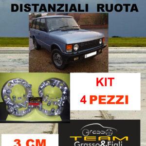 kit 4 Distanziali For Ruota Land Range Rover 1970 > 1996 5×165 spessore 3 cm Wheel Spacer DF10