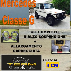 Kit COMPLETO Rialzo Molle + 4 Distanziali Ruota 3,8 cm For Mercedes Classe G FT37M + AR08M + DF18M