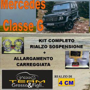 Kit COMPLETO Rialzo Molle + 4 Distanziali Ruota 3,8 cm For Mercedes Classe G 461 LA07 + AR08M + DF18M