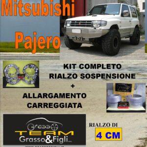 Kit COMPLETO Rialzo Molle + 4 Distanziali Ruota 3 cm For Mitsubishi Pajero V20 AR08M + DF3