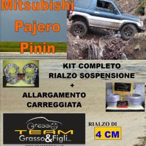 Kit COMPLETO Rialzo Molle + 4 Distanziali Ruota 3cm For Pajero Pinin Molla GRANDE AR08M + LA04M + DF19