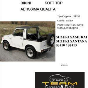 Bikini Soft Top Nero Suzuki Samurai Santana Sj410 Sj413 Altissima Qualità cappottina