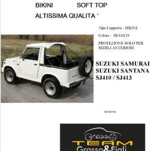Bikini Soft Top Bianco Suzuki Samurai Santana Sj410 Sj413 Altissima Qualità cappottina