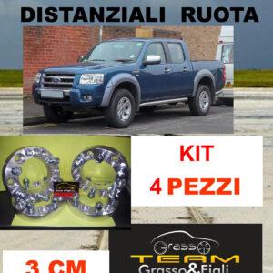 kit 4 Distanziali Ruota For FORD RANGER 2006 -> 2009 30 mm 3 cm spessore Wheel Spacers DF3