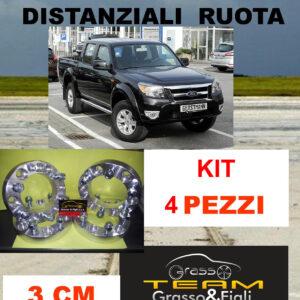 kit 4 Distanziali Ruota For FORD RANGER 2009 -> 2011 30 mm 3 cm spessore Wheel Spacers DF3
