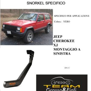 Kit Snorkel Aspirazione Aria Specifico For JEEP CHEROKEE XJ A SINISTRA S91/C
