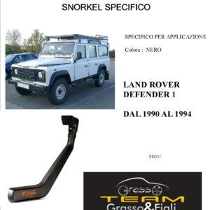 Kit Snorkel Aspirazione Aria Specifico For LAND ROVER DEFENDER 1990>1994 S80/C