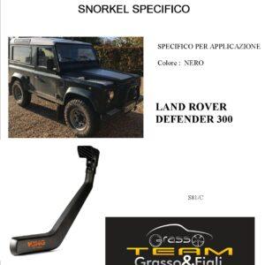 Kit Snorkel Aspirazione Aria Specifico For LAND ROVER DEFENDER 300 S81/C