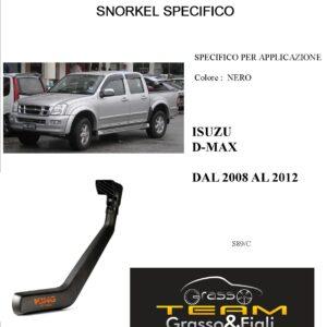 Kit Snorkel Aspirazione Aria Specifico For ISUZU D-MAX 2008>2012 S89/C