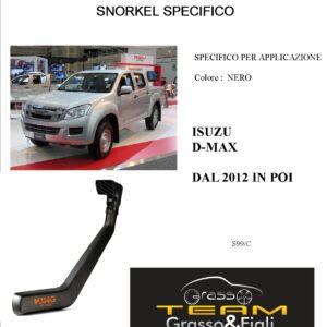 Kit Snorkel Aspirazione Aria Specifico For ISUZU D-MAX DAL 2012 > S99/C