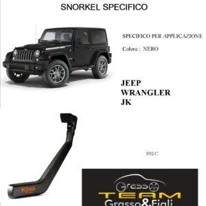 Kit Snorkel Aspirazione Aria Specifico For JEEP WRANGLER JK 2006>2018 S92/C