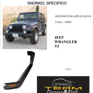 Kit Snorkel Aspirazione Aria Specifico For JEEP WRANGLER TJ 1996>2006 S90/C