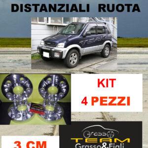 kit 4 Distanziali Ruota For Daihatsu Terios 1997 -> 2006 J1 J111 3 cm spessore Wheel Spacers DF19