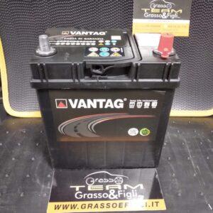 Batteria Auto 40 ah 300A Poli Piccoli Positivo a Destra – Misure 185x125x200 – Vantag Long Life Technology